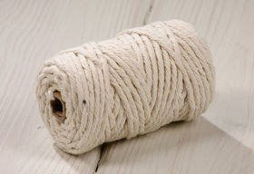 White cotton string 100g about 40m