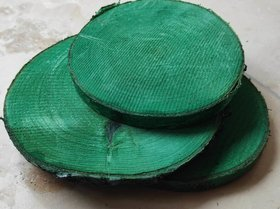 Wood slice for decoration, birch 10-12 cm thick. 1-2 cm pack of 3