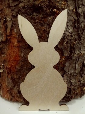 Wooden Christmas decoration, 15 cm Easter bunny