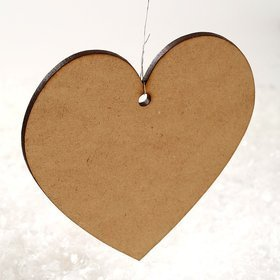 Wooden Christmas decorations Wooden hearts 8 cm-3 pcs / pack