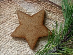 Wooden Christmas decorations, Wooden stars 6 cm-6 pcs / pack