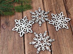 Wooden Christmas decorations, Wooden stars 9 cm- 4 pcs / pack