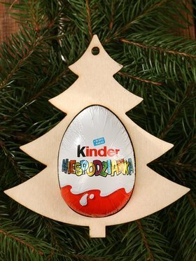 Wooden Christmas ornament, 3 pcs Christmas tree pendant 11/12 cm