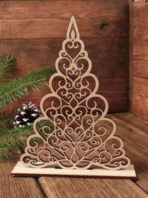 Wooden Christmas tree 11/16 cm