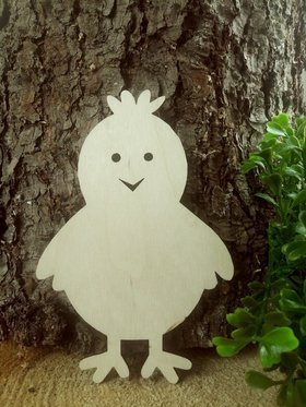 Wooden Easter decoration, Easter chicken-15 cm