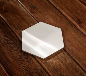 Wooden base 13/15 cm hexagonal for composition