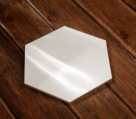 Wooden base 21.5/25 cm hexagonal for composition