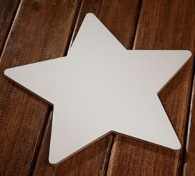 Wooden bleaches star 1,5/26 cm