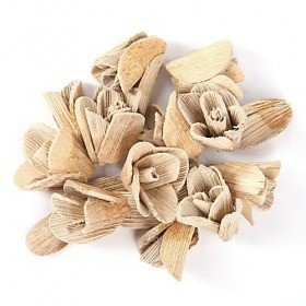 Wooden flowers and petals, pack,30 g