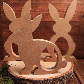 Wooden hares with a hole for a chocolate egg 18.5 cm-3 pcs / pack