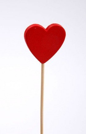 Wooden heart on stick-3