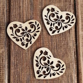 Wooden  hearts 4 pcs / pack PROMOTION