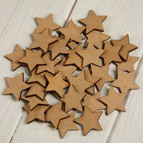 Wooden stars 3 cm-24 pcs / pack