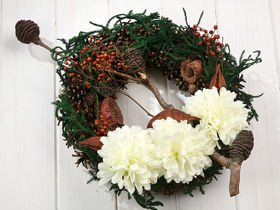 Wreath 35-40 cm natural
