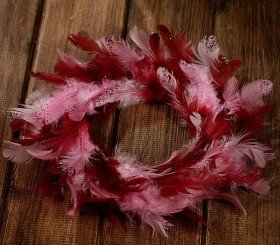 Wreath of feather claret 20-25cm