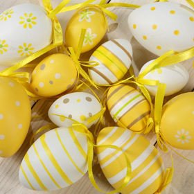 Yellow Eggs (4-6cm) 6 pcs/pkg