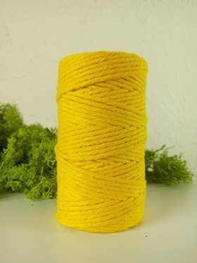 Yellow cotton string 100 g approx 40m