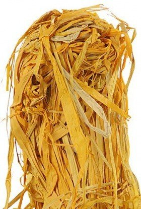 Yellow raffia, big pack - 100 g