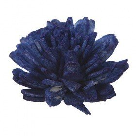 Zinia flowers 4-5 cm 10 pcs navy blue
