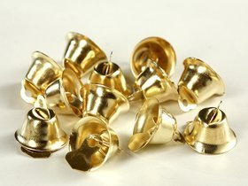 metal bells 12 pcs / pack gold