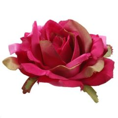 Artificial roses developed pink heads - 3 pcs / pack