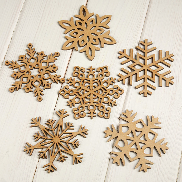 Christmas tree pendants 6 pcs / pack 9 cm