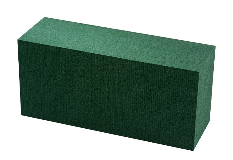Green floral foam VICTORIA - 1 pc.