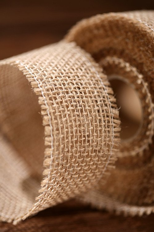 Jute ribbon 5cm x 5m - natural