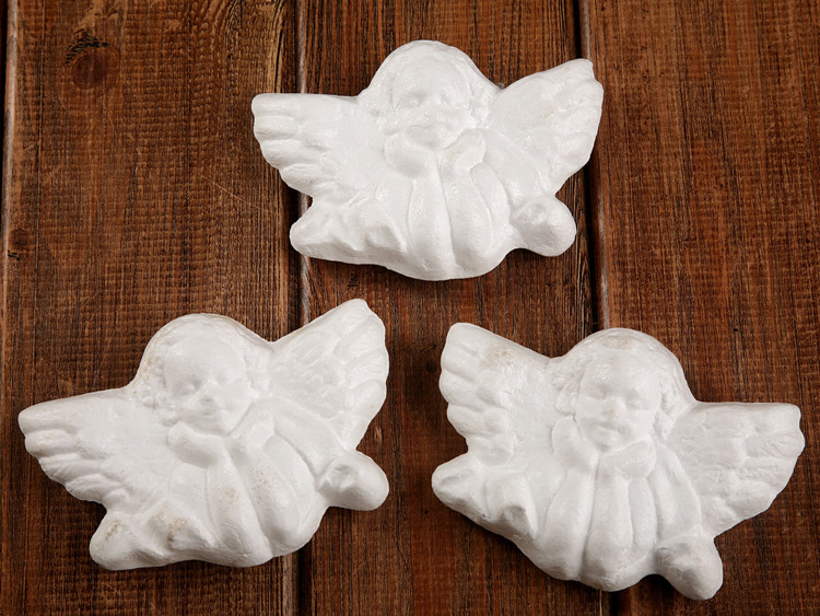 Styrofoam ball Baroque angel 8/11 cm - the price of Christmas decorations for 6 pieces
