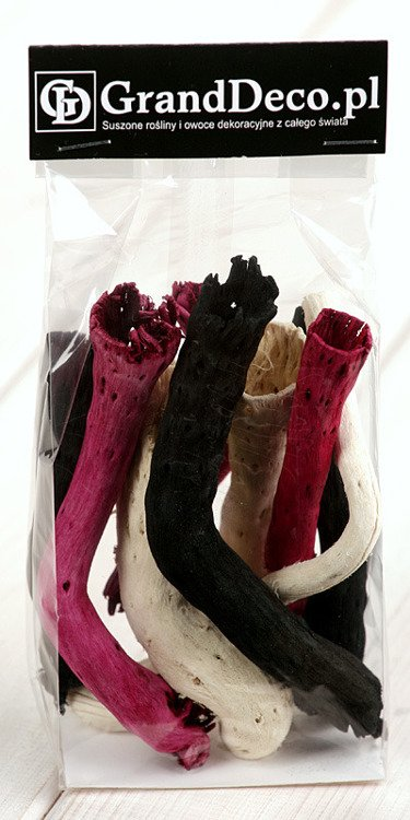 White-Black-Fuchsia Roots 9pcs./pack