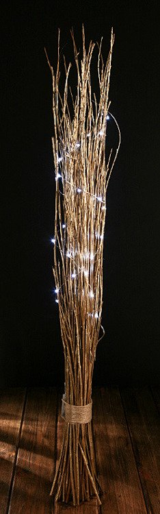 bunch of gold birch with LED lamps, 40-60 cm