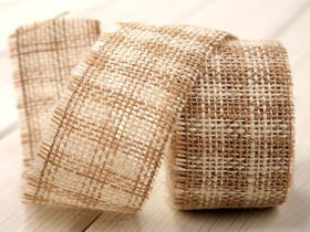 Band aus Jute Jacob Collection dicht (320 g/m2) 5 cm / 5 m erikafarben