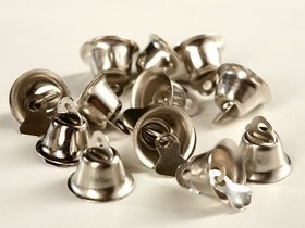 metal bells 12 pcs / pack silver