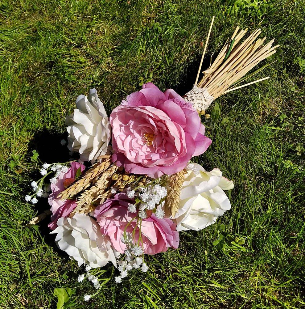 Bukiet Sztuczne Kwiaty Peonie Gipsowka I Klosy Zboz 45 Cm Kompozycje Wianki Kwiaty Sztuczne Wazonowe Wielkanoc 2021 Sztuczne Rosliny Kwiaty Sztuczne Letnie Rosliny Kwiaty Sztuczne Wiosenne